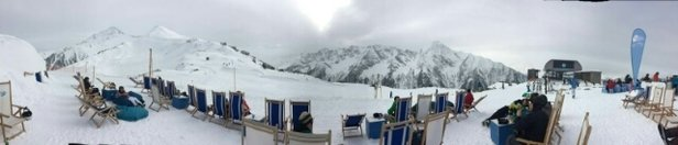 Mayrhofen - Fresh snow last night. Conditions good today. Photo taken at the White Lounge.  - ©Tommy