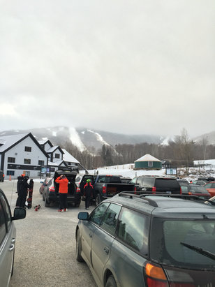 Killington Resort - Rode Friday and Saturday. Very crowded Saturday. Most trails groomed with machine made top coat. Snow making both days. Decent in the morning with most areas skied off by the afternoon becoming icy. Crew trying hard. Can't be over critical with the conditions. - ©KMeredith iPhone