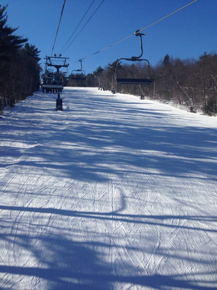 Wachusett Mountain Ski Area - Great conditions, extremely crowded on the base, trails are clear.  - ©Kian