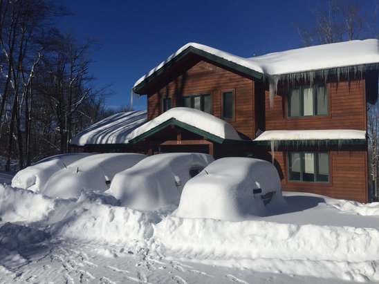 Timberline Four Seasons - This is a photo of the house we rented on Sunday 1/24, the day after 30+ inches of snow.  The  skiing was incredible. - ©Brian  Franklin's iPhone