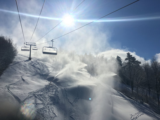 Ragged Mountain Resort - Best day of the year.   - ©Tom's iPhone