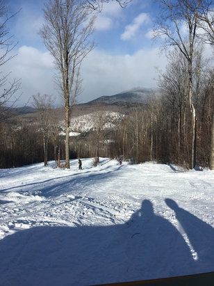 Bretton Woods - Great edge powder. Probably best snow in  this area right now   - ©iPhone