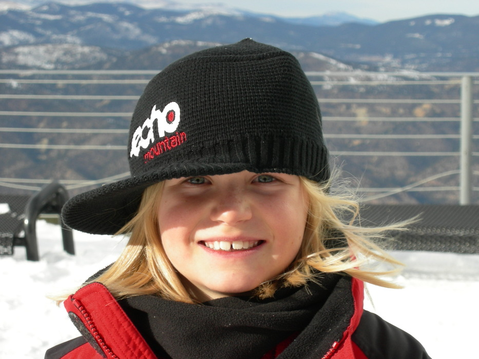 Young visitor to Echo Mountain, CO.