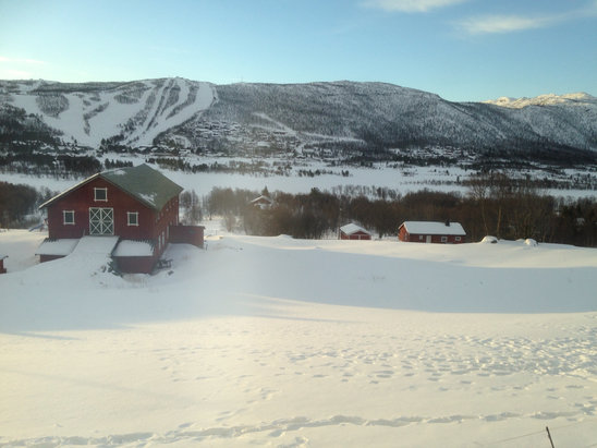 Geilo - Plenty of sun and snow in Geilo this week.  - ©Stuart's iPhone