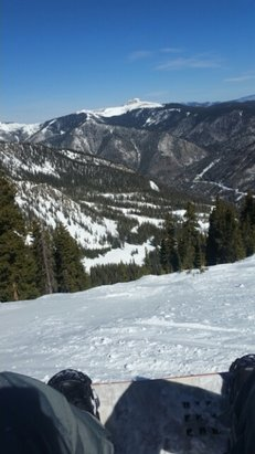 Taos Ski Valley - Warm bluebird day today, the snow was pretty skiied out for the most part but not too icy. Definitely spring conditions. West Basin Ridge was especially dry.  - ©jacob.t.jackson
