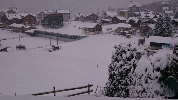 Grindelwald - Wengen - Waking up with fresh snow in Wengen - ©Ferran