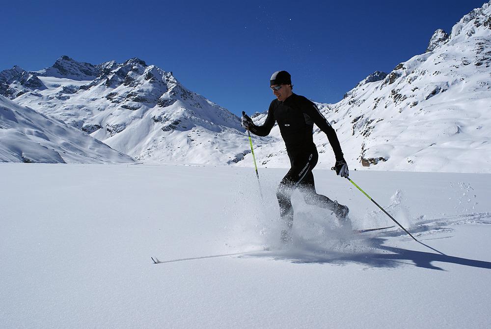 Nordic skier at Ischgl, AUT.