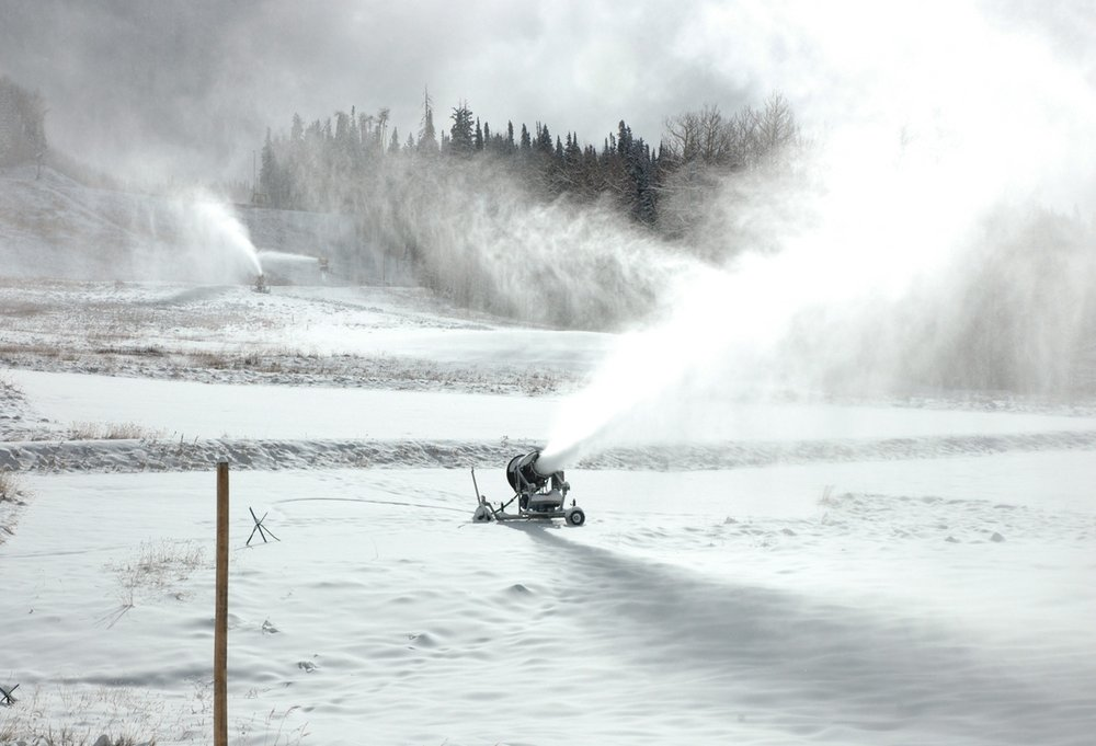 Snowmaking at Telluride, CO 10/28/2009.