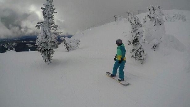 Sun Peaks - Sehr gute Pistenverhältnisse bis ins Tal - ©MG