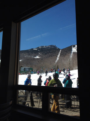 Jay Peak - Good spring skiing day! The season will end very soon. - ©iPhone