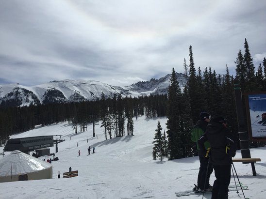 Telluride - Warm today but had an awesome time!!!  Skiing was great on upper runs!  - ©Destry's iPhone