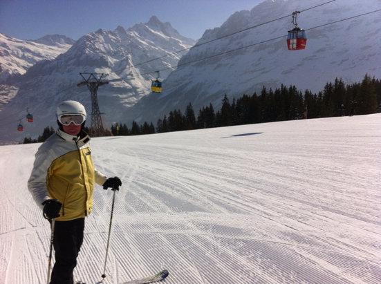 Grindelwald - Wengen - Perfect quiet pistes , fantastic weather - ©Brian's iPhone