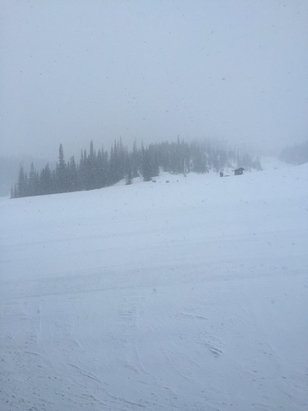 Big Sky Resort - Snowing hard at 7:13 PM.  Will be another great day tomorrow. - ©continuation of the prev