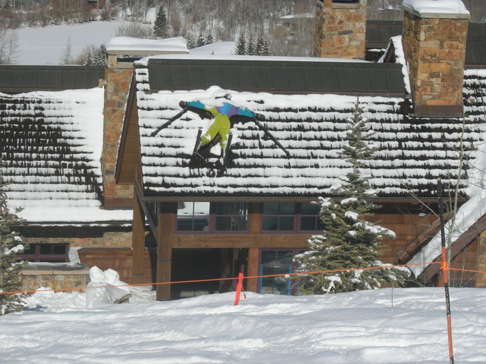 A lodge at Aspen Highlands, Colorado has fun with skiers