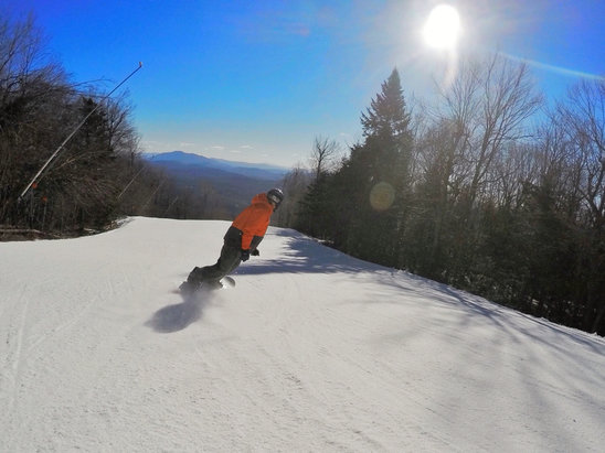 Okemo Mountain Resort - This weekend about 30 of the 60 open trails still had good coverage.  The other 30 some bare spots and rocks but certainly not horrible.  - ©anonymous user