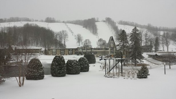 Boyne Mountain Resort - Fun day, yesterday, pic of new snow this morning with more expected. - ©threeM