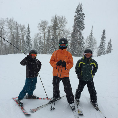 Steamboat - Boys of powder!  - ©Daniel S Robison's iPhon