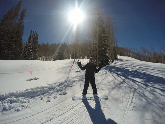 Park City - Awesome conditions.  Mashed potatoes at base. One lift up soft powder.   - ©Mark