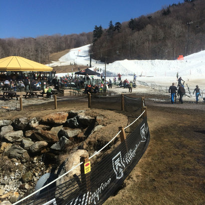 Killington Resort - Great day , snow, people, and of course great shrinkwrap!! - ©iPhone