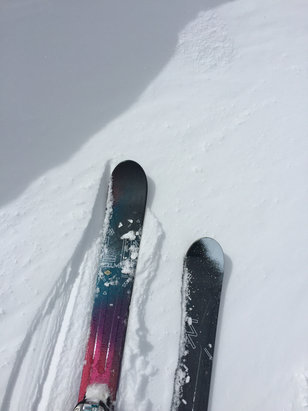 Squaw Valley - Alpine Meadows - How COOL IS THAT !! Snow at the end of APRIL !! Definitely worth going ! Some crud under 2-3 of powder :)) But plenty of terrain:))  - ©Brigette