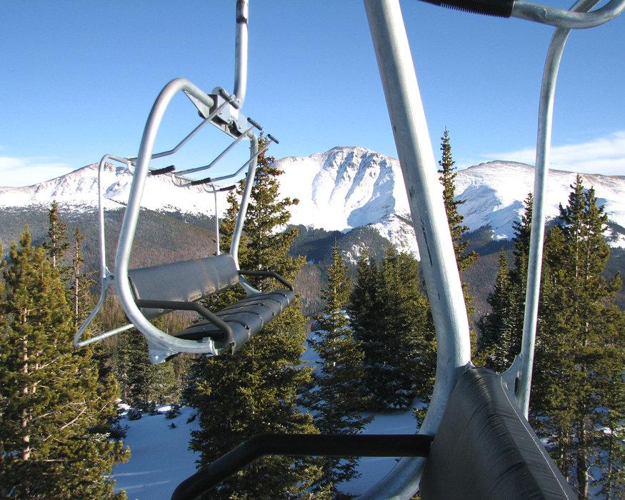 Parry's Peak from Super Gauge Lift, Winter Park, CO  Mary Jane 12.11.09
