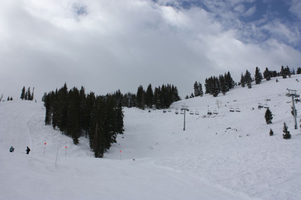 The Powderhorn lift at Solitude, Utah.