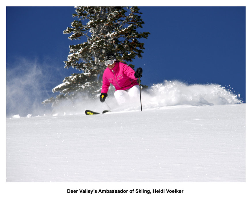 Deer Valley's Ambassador of Skiing, Heidi Voelker