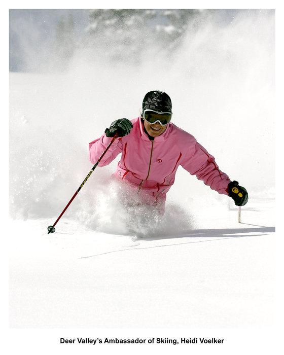 Deer Valley's Ambassador of Skiing, Heidi Voelker