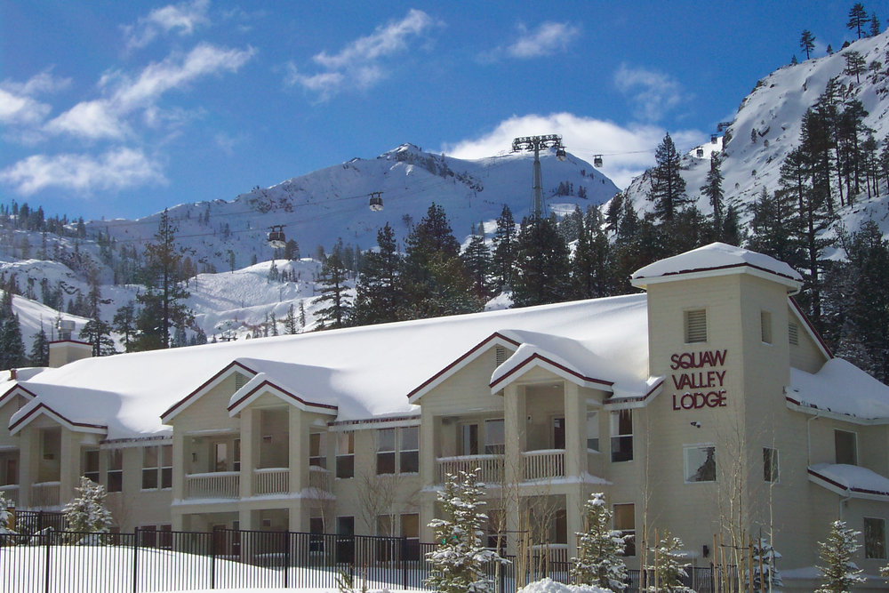 Exterior of Squaw Valley Lodge CA