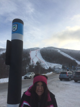Killington Resort - Linda says! Great day today , cool FIS World Cup scene!! Gather around and cheer them on !! Happy turns - ©iPhone