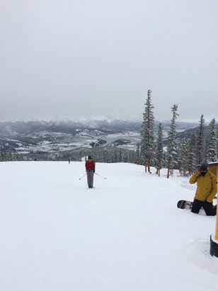 Keystone - Good day for what is open  they have to be close on many more runs as the snow fell it got much better  - ©Ryan Hofsheier's iPhone
