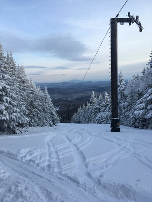 Killington Resort - solid conditions all weekend! storm rolling in tonight and were looking good for this early in the season!  - ©Alex Sardella's iPhone