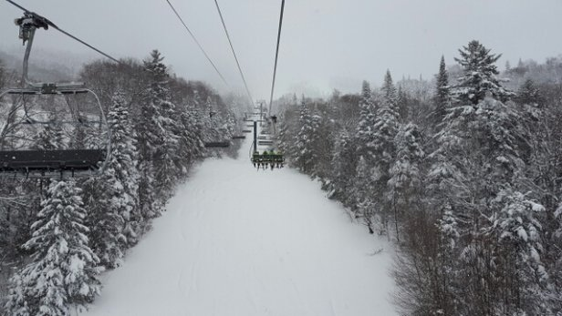 Tremblant - 10 cm fresh snow.  limited runs but not crowded so no lift lines.  Enjoy! - ©powerhound