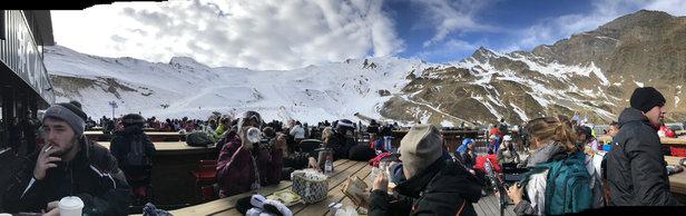 Cauterets - Un bon séjour mais encore peu de pistes ouvertes et de la neige un peu dur avec de la terre par endroit, privilégiez un court séjour pour l'instant.  - ©iPhone de Maxence Pennel