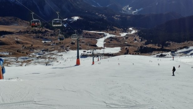 Val Gardena - Gröden - great run from Seceda.  man made snow but in excellent condition - ©anonymous