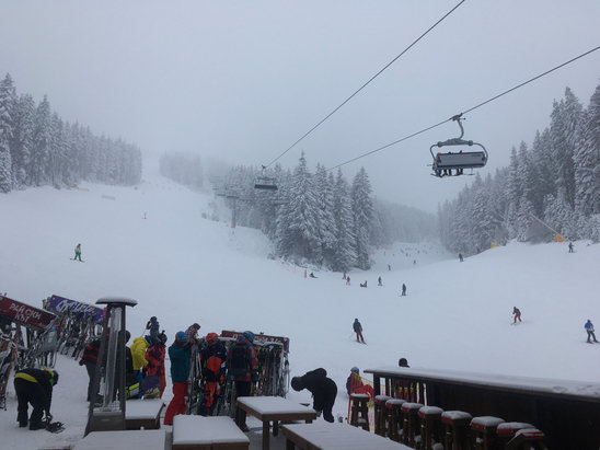 Bansko - Today -13degres and snowing a lot - ©Claudiu's iPhone