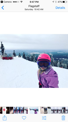 Arizona Snowbowl - From bunny to black in a week....Snowbowl ski school is simply amazing! Our 7 year old's First time at the top of Agassiz! amazing! - ©Jen's iPhone