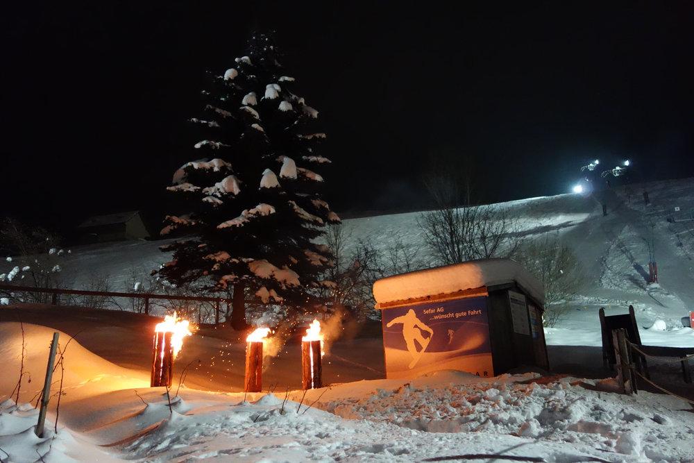 Der Skilift Heiden bei Nacht - ©Skilift AG Heiden