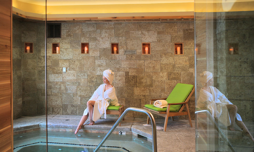 Woman at Grand Lodge Red Leaf Spa.