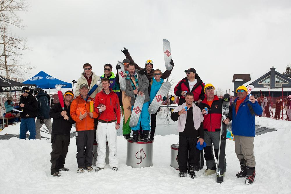 Podium winners at Schneetag, Aspen, CO