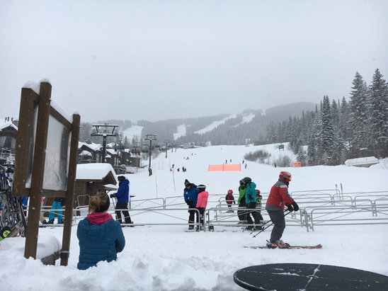 Whitefish Mountain Resort - Skiing is smokin today on every mountain - ©iPhone