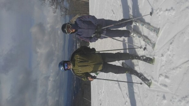 Mount Sunapee - We had a super day of Spring like skiing, Wednesday. Surprisingly, there were very few people on the mountain, no lift lines, and 3-4