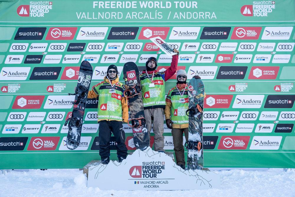 Siegerehrung Snowboard Herren - ©Freride World Tour_D. Daher