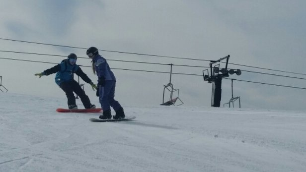 Chestnut Mountain Resort - Fun day.  Good snow cover and warm sunshine for February  - ©livetoskik2