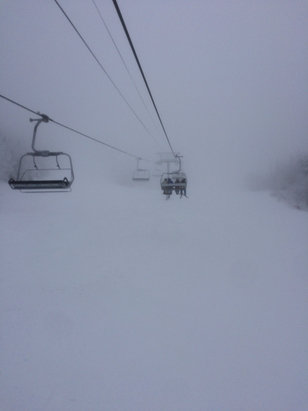 Stowe Mountain Resort - Socked in this AM but snowing now. Pow on the way!  - ©hammertime