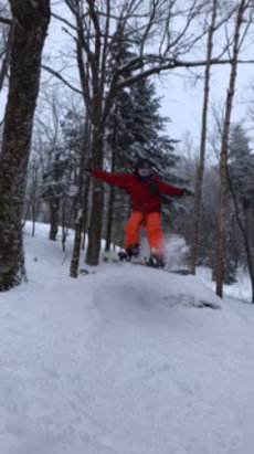 Killington Resort - Awesome day in trees yesterday....   - ©iPhone