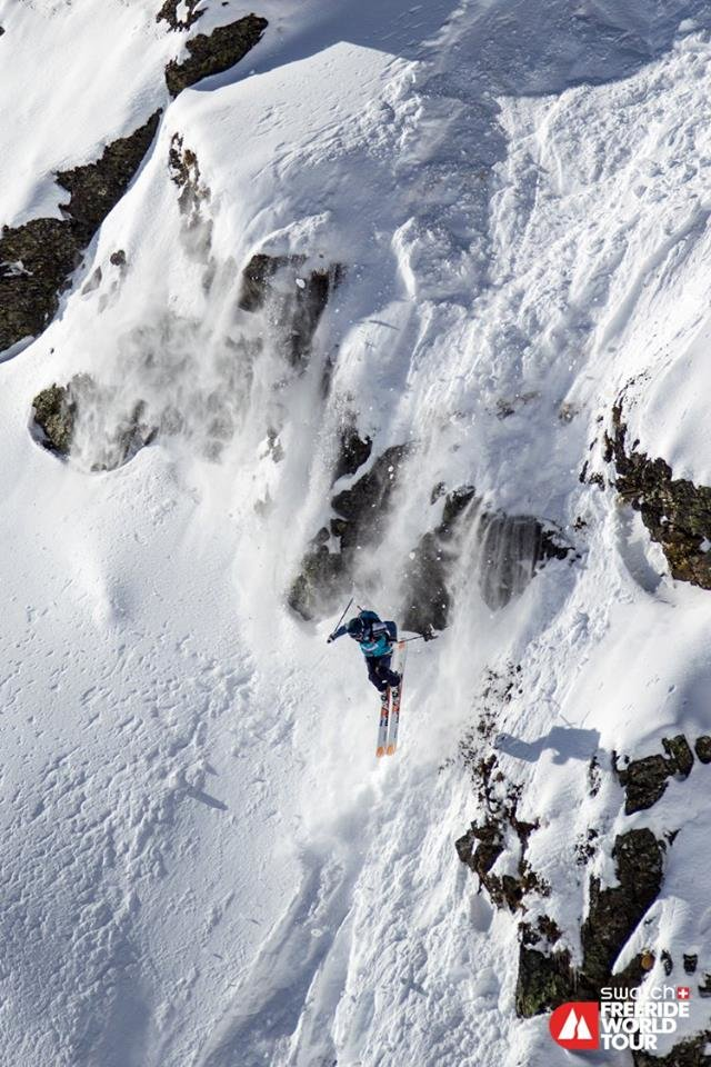 Lorraine Huber holte sich den Sieg - ©Freeride World Tour | Tim Lloyd