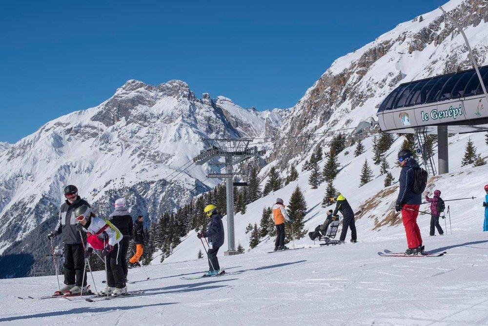 En route pour les pistes de ski de Pralognan la Vanoise - ©OT de Pralognan la Vanoise