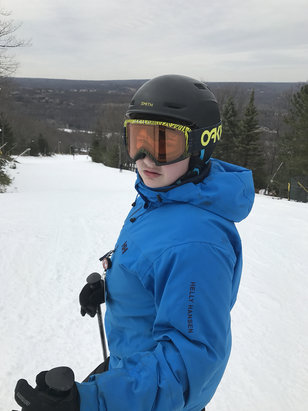 Camelback Mountain Resort - Good skiing so far a few trails closed on left side for repair but still better than expected   - ©Henry's iPhone