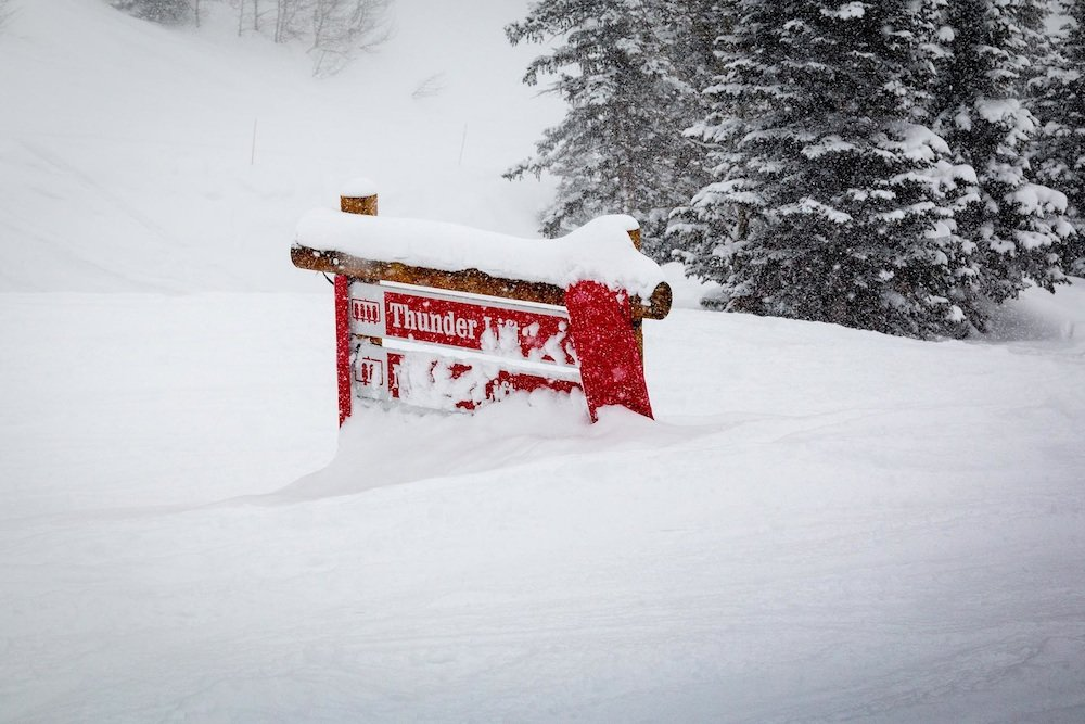Buried.  - ©Jackson Hole Mountain Resort